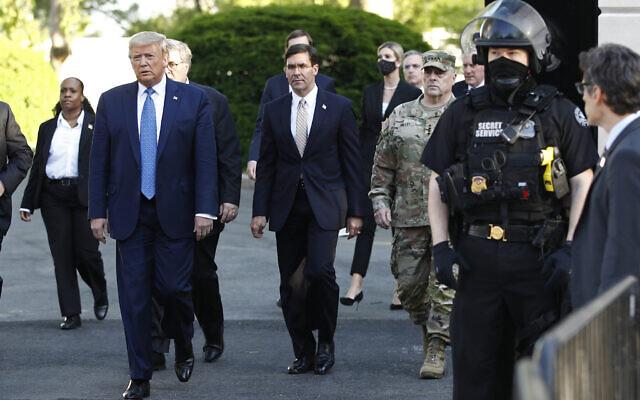 June 1, 2020, President Trump departs the White House to St. John's Church in Washington. (AP Photo/Patrick Semansky, File)